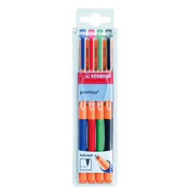 Tintenroller Point Visco 4er-Etui farbig sortiert