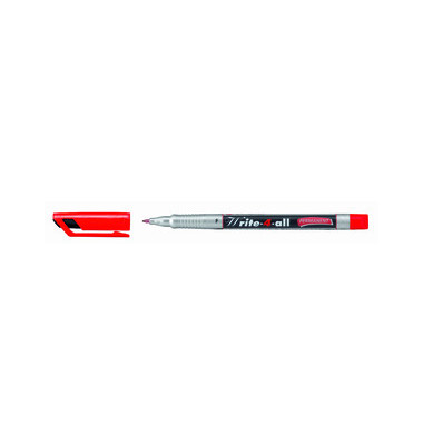 Faserschreiber Write4all grau/rot 0,7mm/F