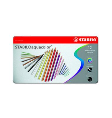 Buntstifte Aquacolor Metall Box sortiert 12 St