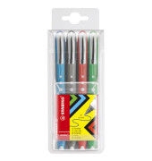 Rollerball Worker colorful sortiert 0,5mm 4er Etui