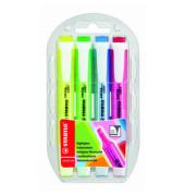 Textmarker swing cool 4er Etui farbig sortiert 1-4mm Keilspitze