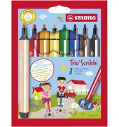 Faserschreiber Trio Scribbi sortiert 1,5-2mm 8 Stifte