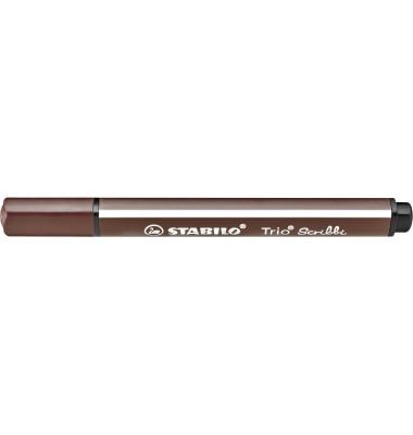 Faserschreiber Trio Scribbi braun 1,5-2mm