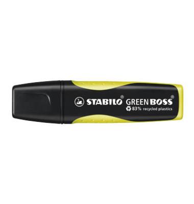 Textmarker Green Boss gelb 2-5mm Keilspitze