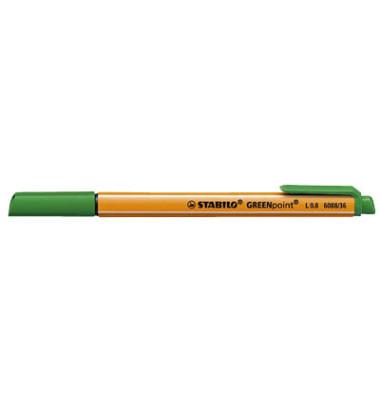Faserschreiber GREENpoint grün 0,8mm mit Kappe
