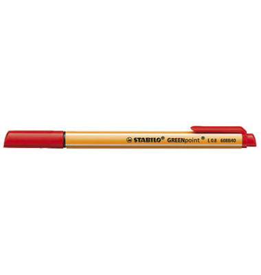 Stabilo 6088//40 Faserschreiber Greenpoint rot,
