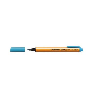 Faserschreiber GREENpoint türkis 0,8mm mit Kappe