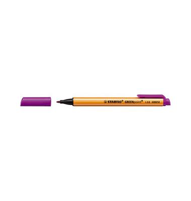 Faserschreiber GREENpoint lila 0,8mm mit Kappe