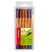 Faserschreiber GREENpoint farbig sortiert 6er-Etui 0,8mm mit Kappe