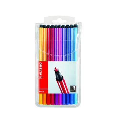 Faserschreiber Pen 68 farbig sortiert 1mm/M 20er-Etui Kunststoff