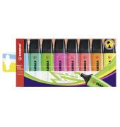 Textmarker Boss Original 8er Etui farbig sortiert 2-5mm Keilspitze