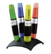 Textmarker Luminator 4er Etui Tischset sortiert 2-5mm Keilspitze