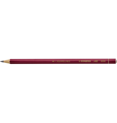 Graphit-Bleistifte All 8008 rot 2B