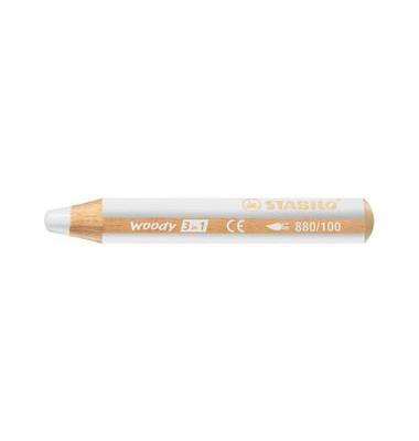 Buntstift woody 3 in 1 weiß 10mm extradick