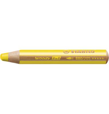 Buntstift woody 3 in 1 gelb 10mm extradick