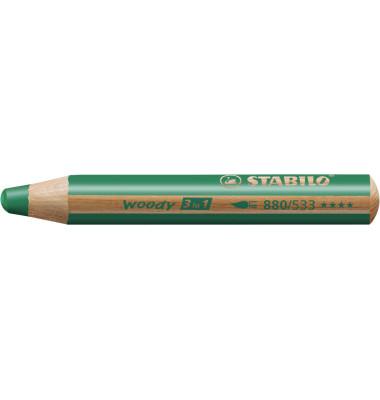 Buntstift woody 3 in 1 dunkelgrün 10mm extradick