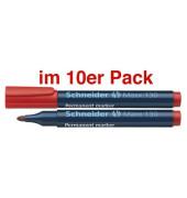 Permanentmarker Maxx 130 rot 1-3mm Rundspitze