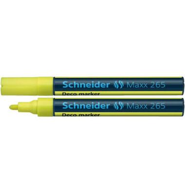 Decomarker Maxx 265 gelb 2-3mm Rundspitze
