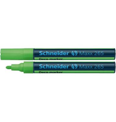 Decomarker Maxx 265 leuchtgrün 2-3mm Rundspitze