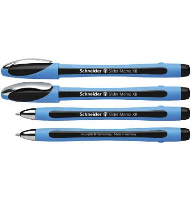 Kugelschreiber Slider memo XB hellblau/schwarz 1,4 mm