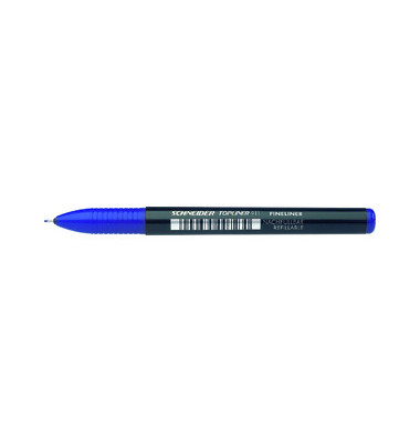 Top Liner 911 nachfüllbar blau 0,4 mm Gehäu.SW