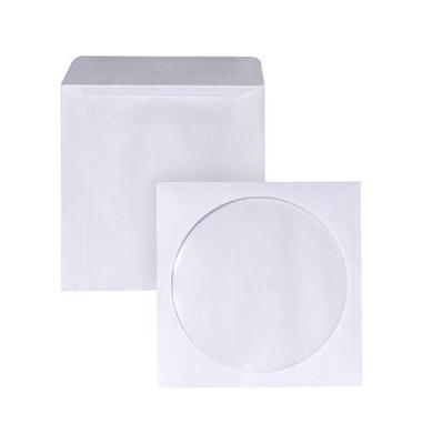 CD/DVD-Papierhülle 90g selbstklebend weiß 126x126mm 2500 Stück