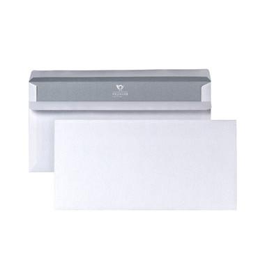 Briefumschläge Din Lang ohne Fenster selbstklebend 75g weiß 25 Stück