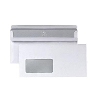 Briefumschläge Din Lang mit Fenster selbstklebend 75g weiß 25 Stück