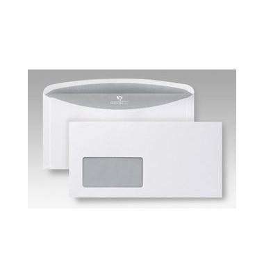 Kuvertierhülle Euroform 1 C6/5 m.Fe.,n.kl.80g weiß 1000 Stück