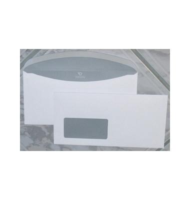 Kuvertierhüllen Euronorm 1 C6/5 mit Fenster nassklebend 80g weiß 1000 Stück