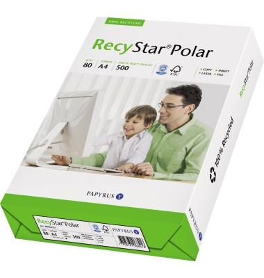 Recyclingpapier A4 80g Star Polar hochweiß matt 500 Blatt