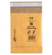 Papierpolstertasche C/0 gold haftklebend innen: 149x222mm