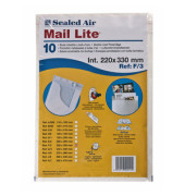 Luftpolstertasche F/3 weiß haftklebend innen: 220x330mm 10 Stück