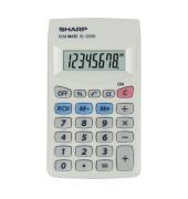Taschenrechner EL-233S Batterie LCD-Display weiß 1-zeilig 8-stellig