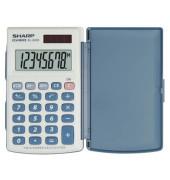 Taschenrechner EL-243S Solar-/Batterie LCD-Display grau/blau 1-zeilig 8-stellig