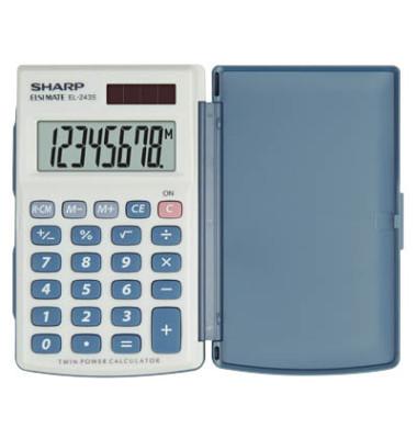 Taschenrechner EL-243S 8-stellig weiß