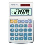 Taschenrechner EL-250S Solar-/Batterie LCD-Display weiß 1-zeilig 8-stellig