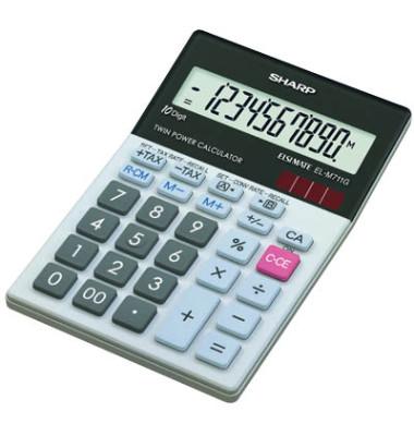 Tischrechner EL-M711G,10-stellig hellgrau