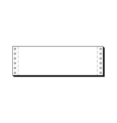 Computerpapier 1-fach 3 Zoll x 240mm blanko LP 70g weiß 4000 Blatt