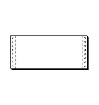 Computerpapier 1-fach 240mm x 101,6mm DIN lang weiß 70g 3000 Blatt