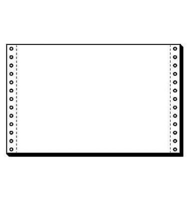 Computerpapier 1-fach 330mm x 8 Zoll A4 quer LP 60g weiß 2000 Blatt
