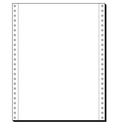 Computerpapier 1-fach 12 Zoll x 240mm A4 hoch blanko LP MP 80g 2000 Blatt