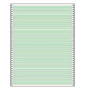 Computerpapier 1-fach 240mm x 12 Zoll Leselinien 4,2mm weiß/grün 60g 2000 Blatt