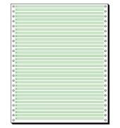 Tabellierpapier 1-fach 12 Zoll x 250mm Leselinien 1/6 Zoll 60g grün 2000 Blatt