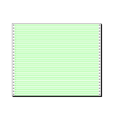 Endlospapier 12371, A3 quer mit Leselinien, 1-fach, 12 Zoll x 375 mm, 2000 Blatt