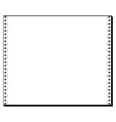 Computerpapier 1-fach 375mm x 12 Zoll blanco weiß 70g 2000 Blatt