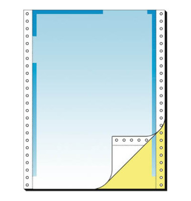 Endlospapier 26246, A4 hoch blanko, 2-fach, 12 Zoll x 240 mm, 500 Sätze