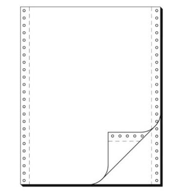 Computerpapier 2-fach 240mm x 12 Zoll selbstdurchschreibend blanco weiß 60/57g 1000 Blatt