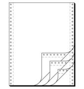 Computerpapier 4-fach 240mm x 12 Zoll selbstdurchschreibend blanco weiß 60/53/57g 500 Blatt