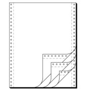 Endlospapier 32244, A4 hoch blanko, 4-fach, 12 Zoll x 240 mm, 500 Sätze